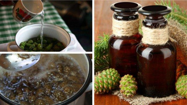 Настойка из зеленых сосновых шишек на водке для сосудов, как принимать