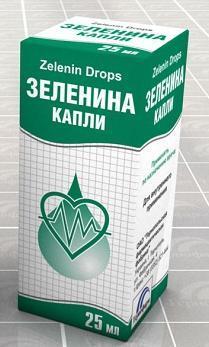 Капли Зеленина показания к применению, от чего помогает, как применять, как пить