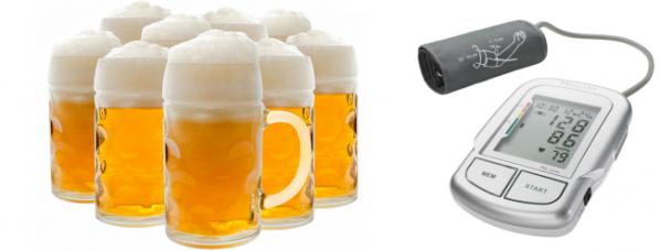 Как пиво влияет на давление, повышает или понижает его